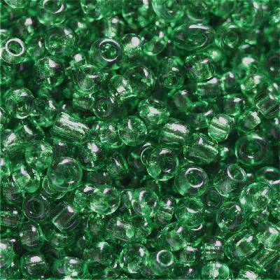 glass seed beads dark green 2 mm