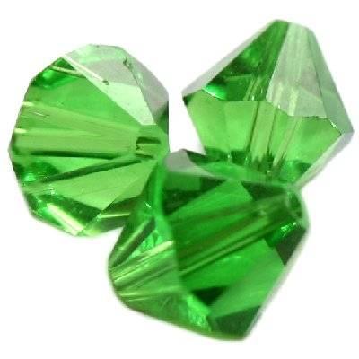 kryształki diamentowe zielone 12 mm