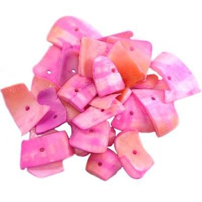 kriauklės pjautos žiedlapiai rožinės 0.8-2.5 cm