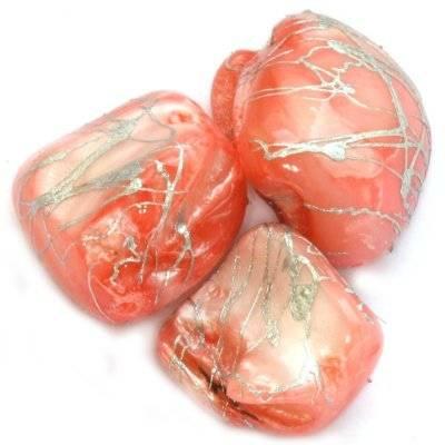 седеф късчета на зиг-заг розови