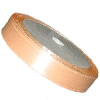 satin ribbon peach 6.5 mm