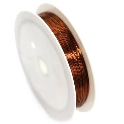 drut miedziany brązowy 0.25 mm