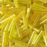 sklenené guľôčky rúrky žltej 9 mm