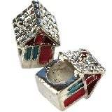 modular beads colorful house 12 x 8 x 7 mm