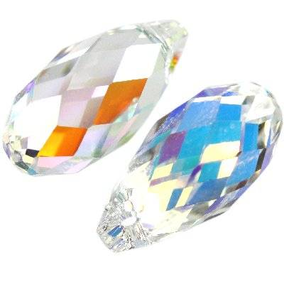 Swarovski briolette pendants crystal ab 13 x 6.5 mm
