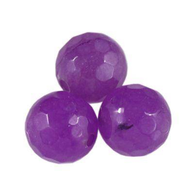 jade faceted beads amethyst 6 mm / semi-precious stone dyed