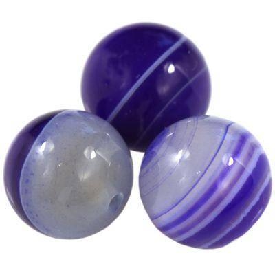 agat gładki ciemno niebieski 12 mm kamień półszlachetny naturalny barwiony
