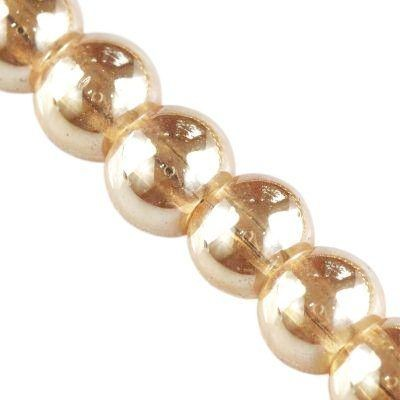 Bubble Beads AB cashmere 4 mm