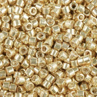 Miyuki biseris Delica galvanized apricot gold 1.6 x 1.3 mm DB-0411
