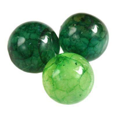 agat lodowy spękany zielony 6 mm kamień półszlachetny naturalny barwiony