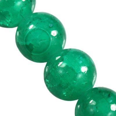 koraliki crackle Jade emerald 10 mm