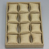 organizer / box of 12 compartments with pillows / linen 24 x 35 cm