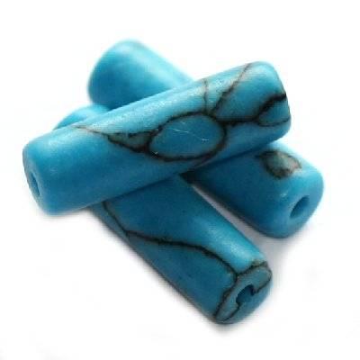 pałeczki turkus 4 x 13 mm kamień półszlachetny syntetyczny