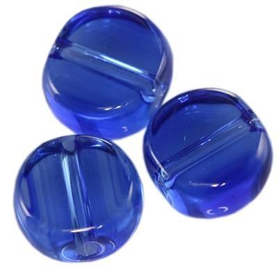 pastylki niebieskie 8 mm / koraliki szklane