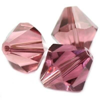 kryształki diamentowe ametystowe 12 mm  / koraliki szklane
