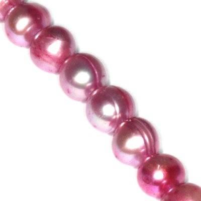 perełki słodkowodne 4-5 mm liliowe