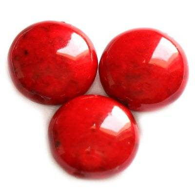 drops marble dyed red 6 x 4 mm