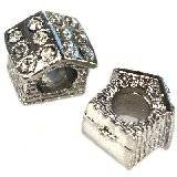 modular beads silver house 10 x 10 x 8 mm