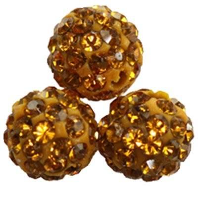fimo round caramballa rhinestones honey 8 mm