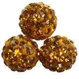 fimo round caramballa rhinestones honey 8 mm