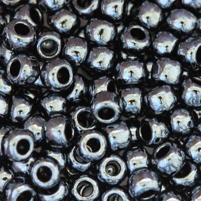 Toho beads round metallic hematite 3 mm TR-08-81