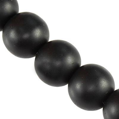 black onyx beads matt 6 mm / semi-precious stone synthetic
