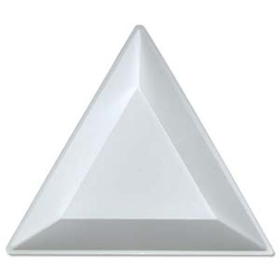 Sorting bead tray triangular 7.5 cm