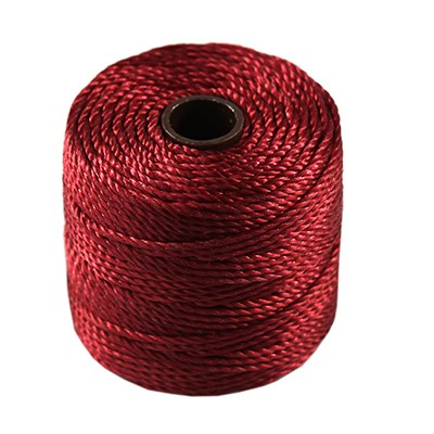 S-lon heavy macrame cord tex 400 red hot