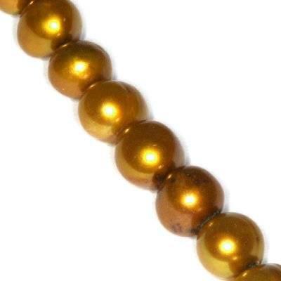 perełki słodkowodne 4-5 mm złote