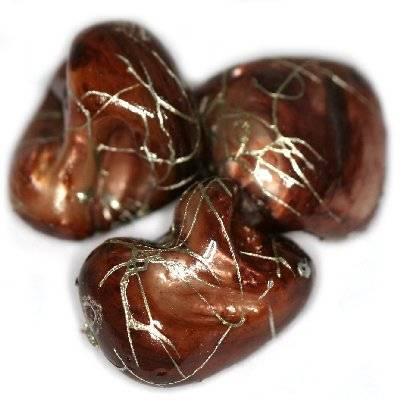 masa perłowa bryłki zyg zaki brązowe