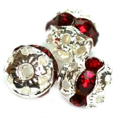 séparateurs boules zirconium rubin 8 mm