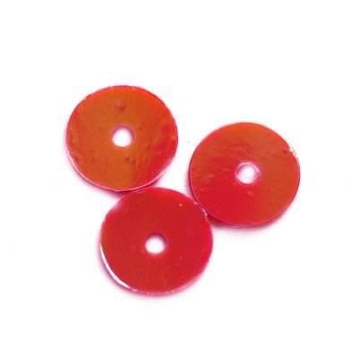 flitre krémovo - dúhové kruhy hladké červené 8 mm