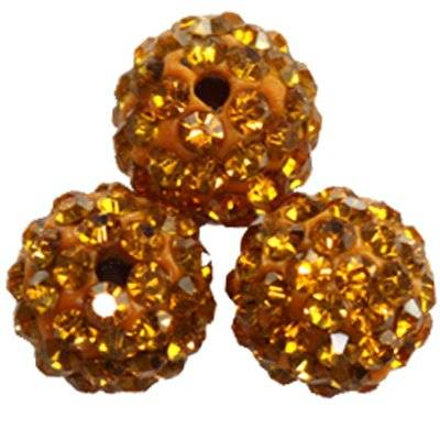 perles miel fimo boules caramballa cristaux 10 mm