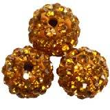 fimo round caramballa rhinestones honey 10 mm