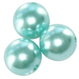perles en plastique aigue-marine 6 mm