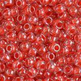 Toho beads round inside-color crystal/tomato-lined 2.2 mm TR-11-341