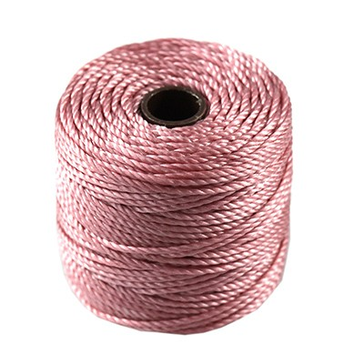 S-lon heavy macrame cord tex 400 rose