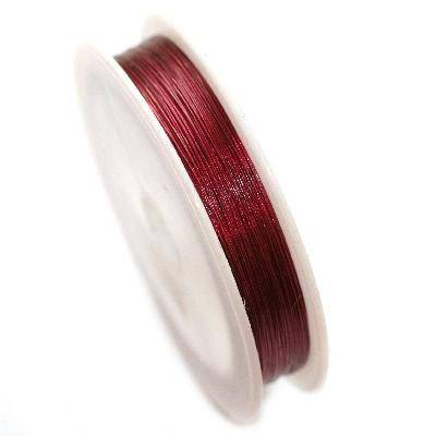 smykkewire bordeaux 0,38 mm