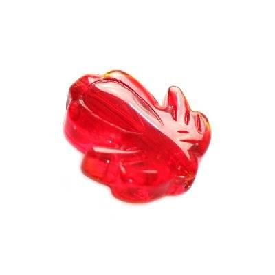 glazen kralen bloem rood 20 mm