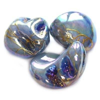 mother of pearl nugget lined blue