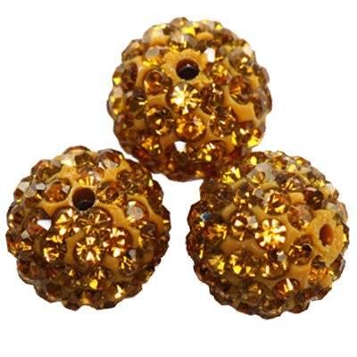 perles miel fimo boules caramballa cristaux 12 mm