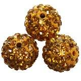 fimo round caramballa rhinestones honey 12 mm