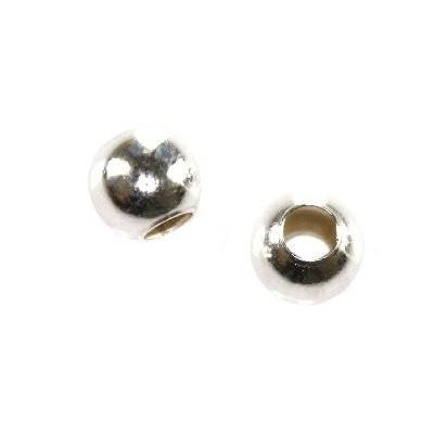 sterling silver 925 crimp beads 4 mm with large hole