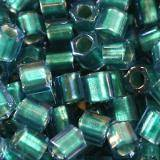 koraliki Toho hex inside-color rainbow crystal/green teal lined 3 mm TH-08-274