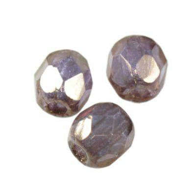 Czech Fire Polished beads 3mm round bronze shade luster
