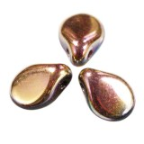 Koraliki Preciosa PIP irish fire gold 7 x 5 mm