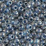 Toho beads round inside-color crystal/capri-lined 2.2 mm TR-11-347