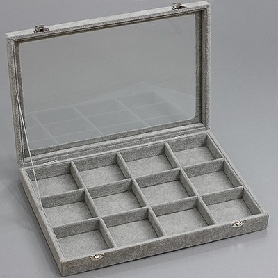 organizer / box of 12 compartments, with lock 24 x 35 cm