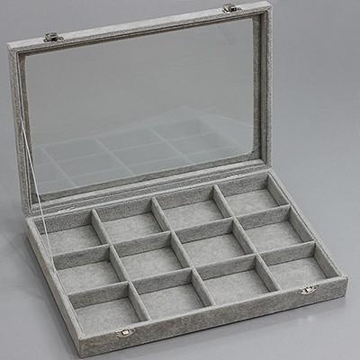 organizer / pudełko 12 przegródek, zamykany 24 x 35 cm