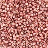 Miyuki Delica beads 11/0 duracoat galvanized dark coral DB1839
